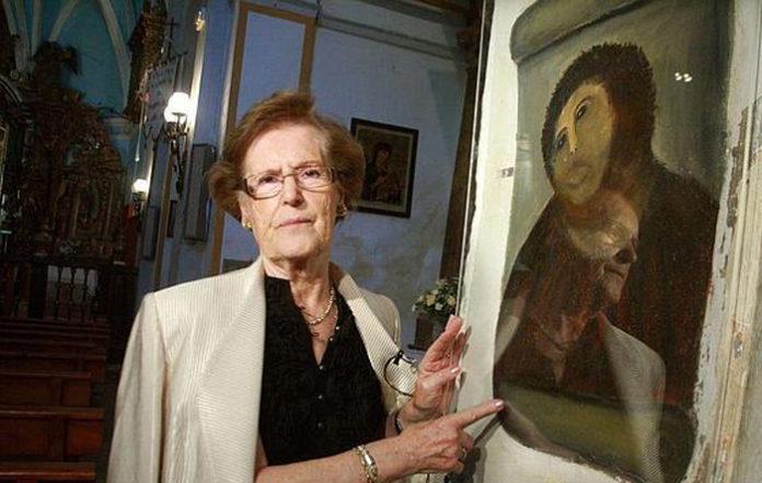 Doña Cecilia ofrece al Museo de Lérida sus servicios para reproducir los bienes de Sijena