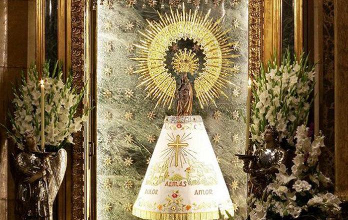 La Virgen del Pilar, harta:
