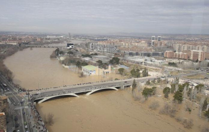 Aragón podría convertirse en la nueva Atlántida si el Ebro sigue creciendo