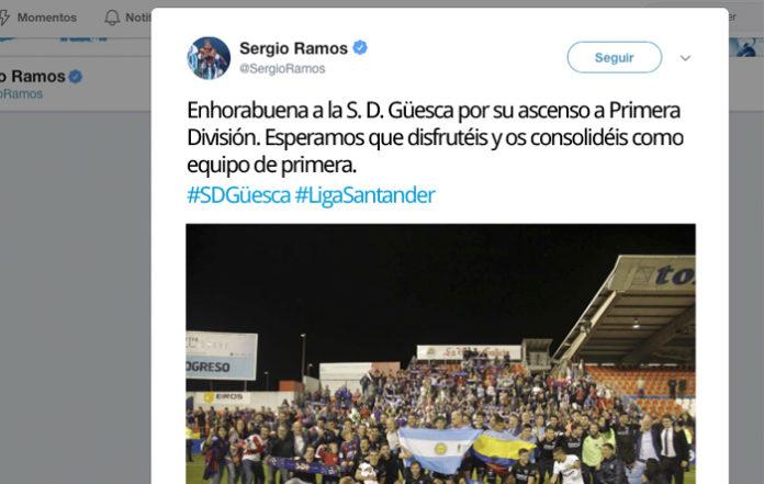Sergio Ramos felicita al