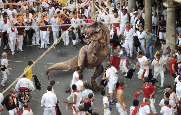 Dinópolis propone sustituir el toro ensogado por un Tyrannosaurus Rex