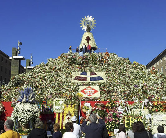 Vegetarianos aragoneses solicitan al Ayuntamiento quedarse con los restos de las flores de la Ofrenda