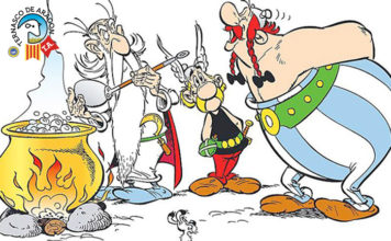 Obélix empezará a comer Ternasco de Aragón en vez de jabalís las próximas ediciones