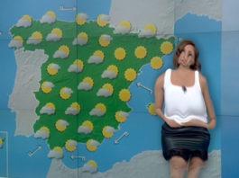La mujer de 'El tiempo' de Antena 3 se derrite mientras pronostica la previsión meteorológica en Zaragoza