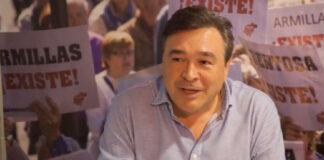 """Tomás Guiarte, Diputado de Teruel Existe, entra en el Congreso de los Diputados al grito """"Yo soy de la Peña el Ajo y tú no"""""""
