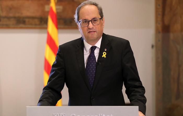 Quim Torra pide consejo al Gobierno de Aragón para conseguir más contagios en Cataluña y lograr la independencia