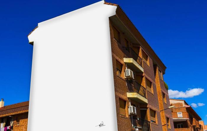 Presenta en el Festival Asalto un mural vacío que representa la vida en el barrio de Arcosur