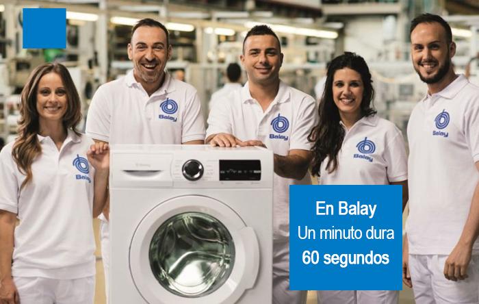 Balay saca al mercado la primera lavadora cuyo último minuto de lavado equivaldrá a 60 segundos